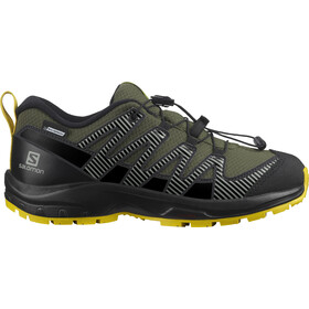 Salomon XA Pro v8 CSWP Shoes Kids, olijf/zwart